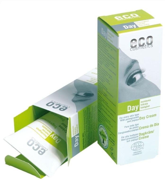 Дневной крем для лица увлажняющий с гранатом и папайей - Eco Cosmetics