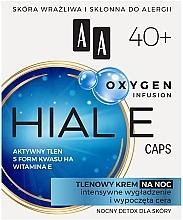Духи, Парфюмерия, косметика Кислородный ночной крем для лица 40+ - AA Oxygen Infusion Hial E Caps Night Cream