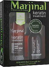 Духи, Парфюмерия, косметика Набор для восстановления волос - Marjinal Keratin Hair Treatment (keratin/ser/150ml + keratin/spray/250ml)
