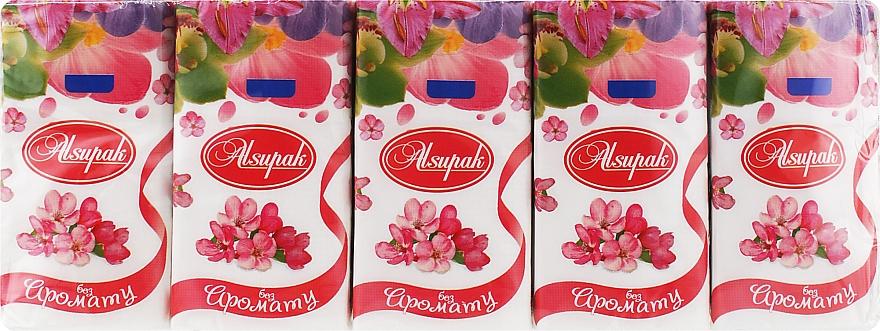 Бумажные носовые платки, без запаха - Alsupak