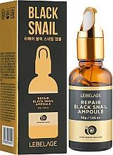 Духи, Парфюмерия, косметика Сыворотка для лица с экстрактом черной улитки - Lebelage Repair Black Snail Ampoule