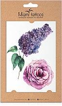 Духи, Парфюмерия, косметика Акварельные переводные тату - Miami Tattoos Lilac & Rose