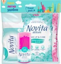 Духи, Парфюмерия, косметика Набор для путешествий - Novita Travel Pack (cot/pads/50pcs + cot/buds/50pcs + face/wipes/15pcs + body/wipes/15pcs)