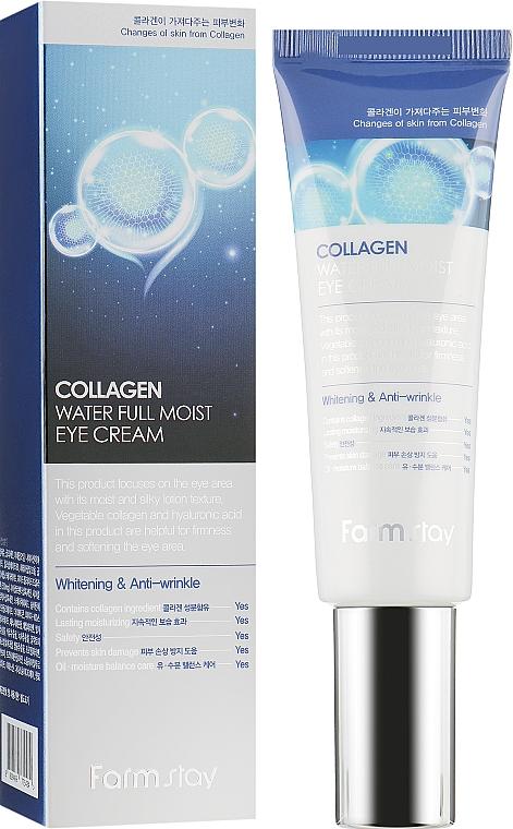 Увлажняющий крем для зоны вокруг глаз с коллагеном - FarmStay Collagen Water Full Moist Eye Cream