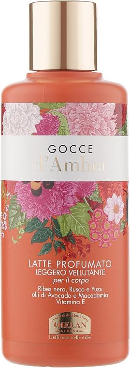 Молочко для тела ароматизированное - Helan Gocce D'ambra Milk