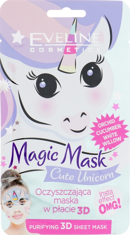 Очищающая маска для лица - Eveline Cosmetics Magic Mask Cute Unicorn