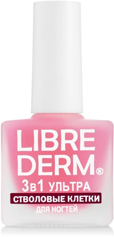 """Ухаживающий лак для ногтей """"3 в 1 ультра стволовые клетки винограда"""" - LibreDerm 3in1"""