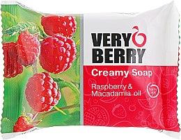 "Духи, Парфюмерия, косметика Крем-мыло ""Малина и масло макадамии"" - Very Berry Raspberry & Macadamia Oil Cremy Soap"