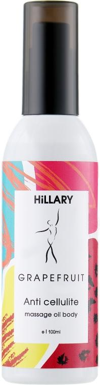Антицеллюлитное массажное масло для тела - Hillary Massage Oil Body Grapefruit