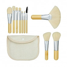 "Духи, Парфюмерия, косметика Набор кистей для макияжа ""Bamboo White"" 10шт + сумочка - Tools For Beauty"