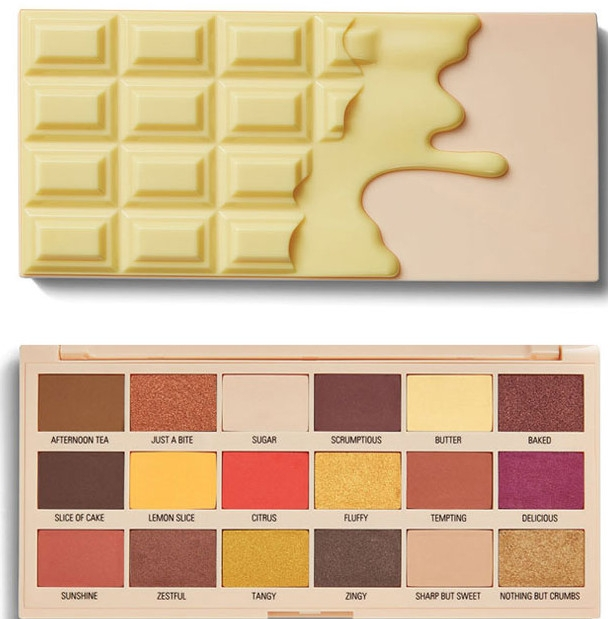 Палетка теней для век - I Heart Revolution Chocolate Eyeshadow Palette Lemon Drizzle