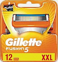 Духи, Парфюмерия, косметика Сменные кассеты для бритья, 12 шт. - Gillette Fusion