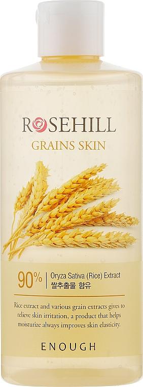 Омолаживающий тонер для лица с рисом и центеллой азиатской - Enough Rosehill Grains Skin 90%