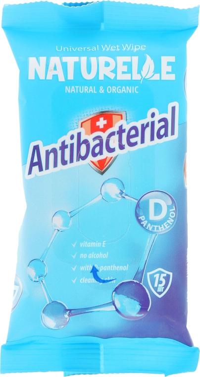 """Салфетки влажные """"Антибактериальные"""", 15шт - Naturelle Antibacterial D-Panthenol"""