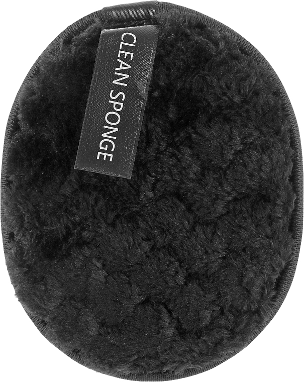 Хлопковый спонж для умывания, PF-33, черный - Puffic Fashion