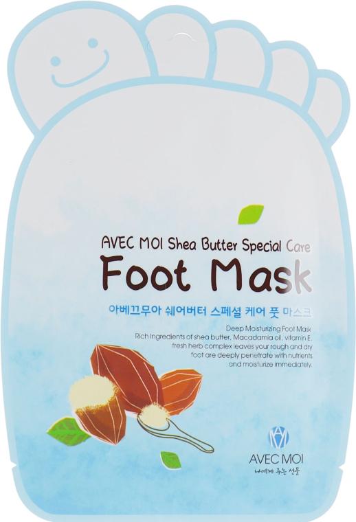 Смягчающие носочки - Avec Moi Shea Butter Special Care Foot Mask