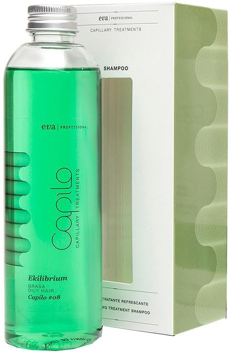 Освежающий лечебный шампунь для жирной кожи головы - Eva Professional Capilo Ekilibrium Shampoo №08