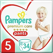 Духи, Парфюмерия, косметика Подгузники-трусики Premium Care Pants Junior 5 (12-17 кг), 34 шт - Pampers
