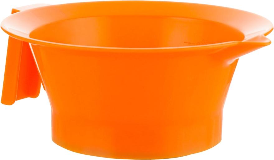 Мисочка для окрашивания волос с ручкой, оранжевая - Tico Professional