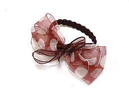 Духи, Парфюмерия, косметика Резинка для волос P0029, 15×9 см, бордовая - Akcent