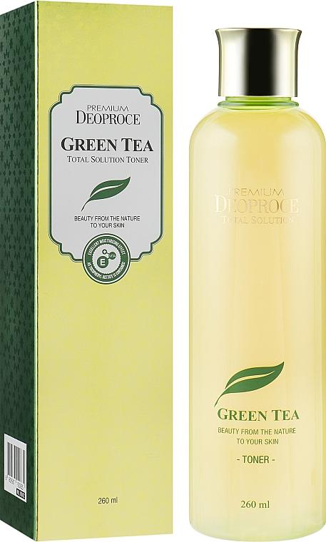 Увлажняющий тонер для лица с зеленым чаем - Deoproce Premium Greentea Total Solution Toner