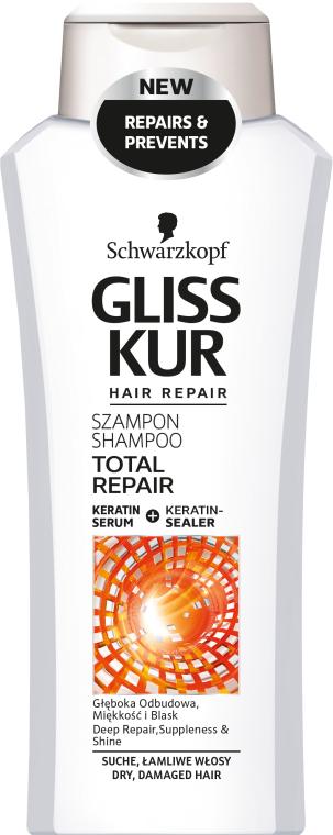 Шампунь для сухих поврежденных волос - Gliss Kur Total Repair