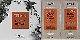 Духи, Парфюмерия, косметика Набор пробников - Lakme Teknia Color Refresh Cocoa Brown (sh/10ml+mask/10ml)
