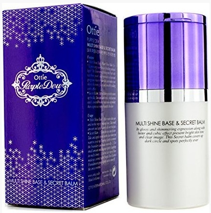 База под макияж и консилер - Ottie Purple Dew Multi Shine Base & Secret Balm