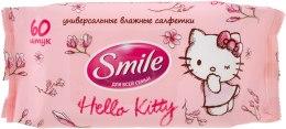 """Влажные салфетки """"Hello Kitty"""" 60шт, персиковые - Smile Ukraine Hello Kitty — фото N1"""