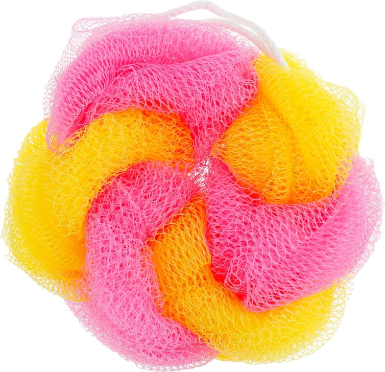 """Мочалка для душа и ванны """"Цветное колесо"""", желто-розовая - Avrora Style"""