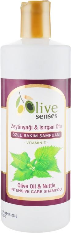 "Шампунь для специального ухода ""Оливковое масло-крапива-витамины"" - Selesta Senses Olive Oil & Nettle Shampoo"
