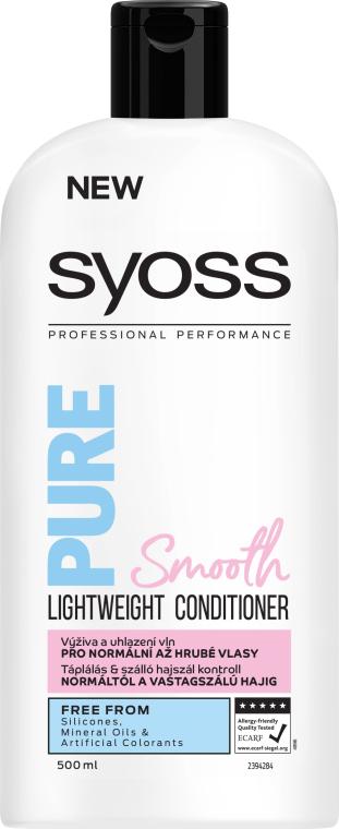 Бальзам-кондиционер для нормальных и густых волос - Syoss Pure Smooth Conditioner