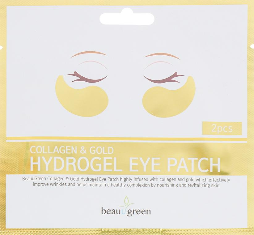 Гидрогелевые патчи для глаз - BeauuGreen Collagen & Gold Hydrogel Eye Patch