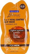 "Маска для мужчин ""Комплексный контроль. Ржаной виски "" - Freeman Feeling Beautiful Total Control Clay Mask — фото N1"