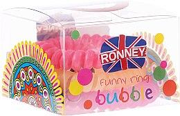 Духи, Парфюмерия, косметика Резинки для волос, 5,5 см, разноцветные - Ronney Professional Funny Ring Bubble