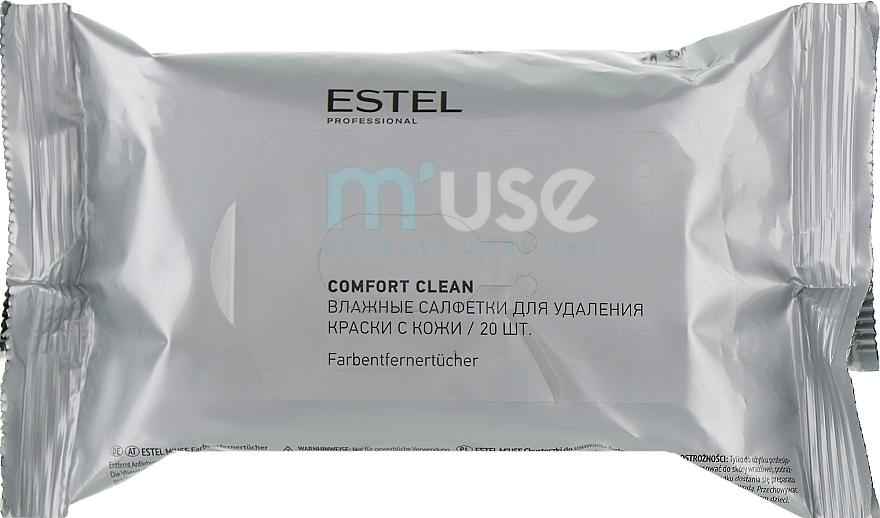 Салфетки влажные для удаления краски с кожи - Estel Professional M'Use