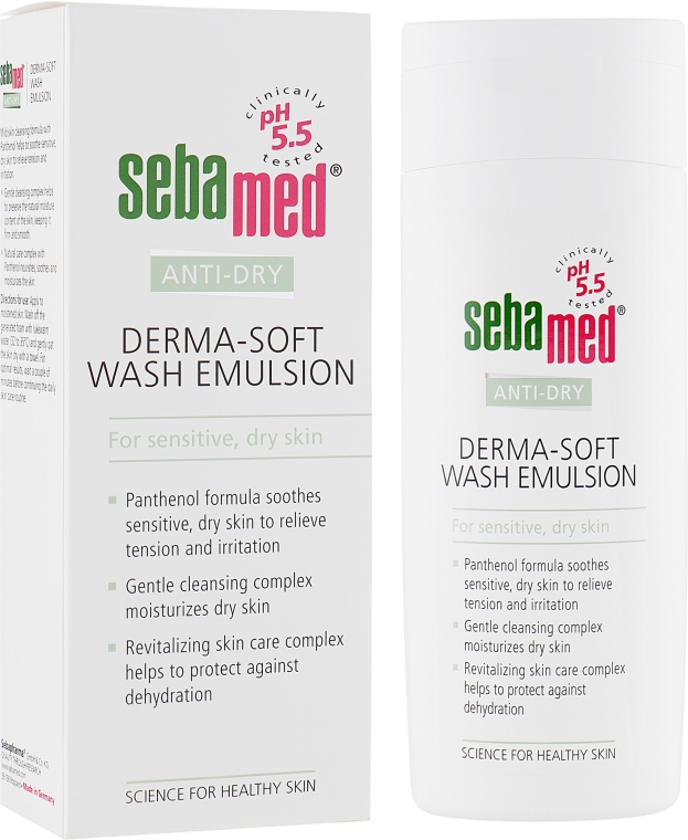 Эмульсия мягкая очищающая - Sebamed Anti-Dry Derma-Soft Wash Emulsion