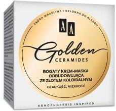Духи, Парфюмерия, косметика Крем-маска для лица - AA Cosmetics Golden Ceramides Rich Rebuilding Cream Mask