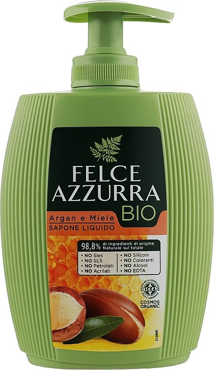 Жидкое мыло «Аргановое масло и Мед» - Felce Azzurra BIO Argan & Honey Liquid Soap