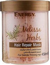 Духи, Парфюмерия, косметика Восстанавливающая маска для тонких волос и чувствительной кожи головы с экстрактом мелиссы - Energy Cosmetics Melissa Herbs Hair Repair Mask