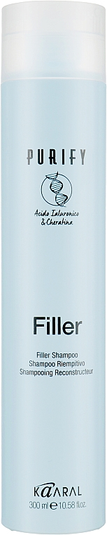 Шампунь-филлер для волос с кератином и гиалуроновой кислотой - Kaaral Purify Filler Filler Shampoo