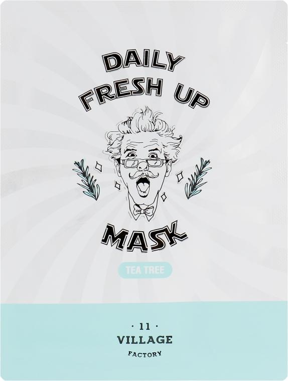 Тканевая маска с экстрактом чайного дерева - Village 11 Factory Daily Fresh Up Mask Tea Tree