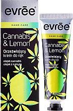 Духи, Парфюмерия, косметика Освежающий крем для рук - Evree Cannabis & Lemon Hand Cream