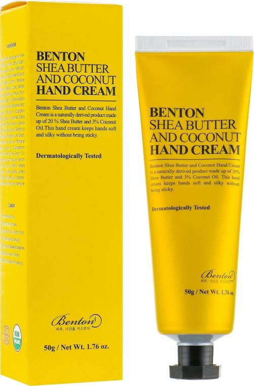 Крем для рук с маслом ши и кокосом - Benton Shea Butter and Coconut Hand Cream