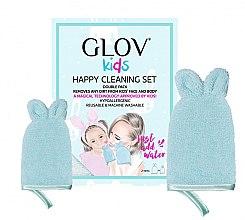 Духи, Парфюмерия, косметика Набор - Glov Kids Happy Cleaning Set Blue (big/glove/1pcs + small/glove/1pcs)