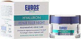Духи, Парфюмерия, косметика Ночной крем для лица - Eubos Med Anti Age Hyaluron Repair Filler Night Cream