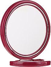 Духи, Парфюмерия, косметика Зеркало двустороннее круглое 9509, на подставке, бордовое, 18,5 см - Donegal Mirror