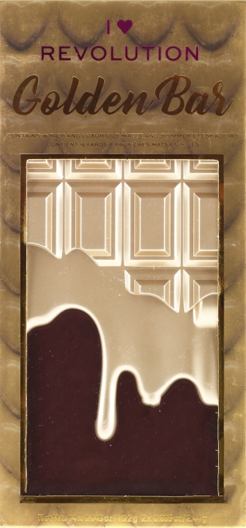 Палетка теней для век, 16 оттенков - I Heart Revolution Chocolate Eyeshadow Palette