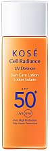 Духи, Парфюмерия, косметика Солнцезащитный лосьон SPF 50 - KOSE Cell Radiance UV Defencer Sun Care Lotion SPF 50