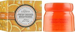 Духи, Парфюмерия, косметика Ночная осветляющая маска для лица с экстрактом апельсина - Dizao Lusidina Fresh Orange Brightening